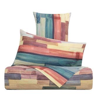 Striped flat sheet 100% cotton percale