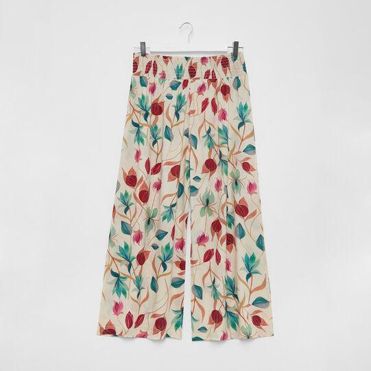 Viscose palazzo pants with floral print