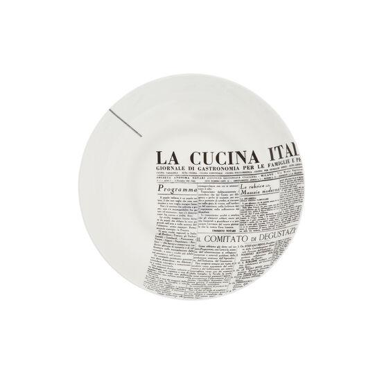 Piatto fondo fine bone china decoro geometric La Cucina Italiana