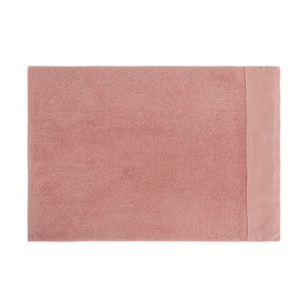100% organic cotton bath sheet with linen trim