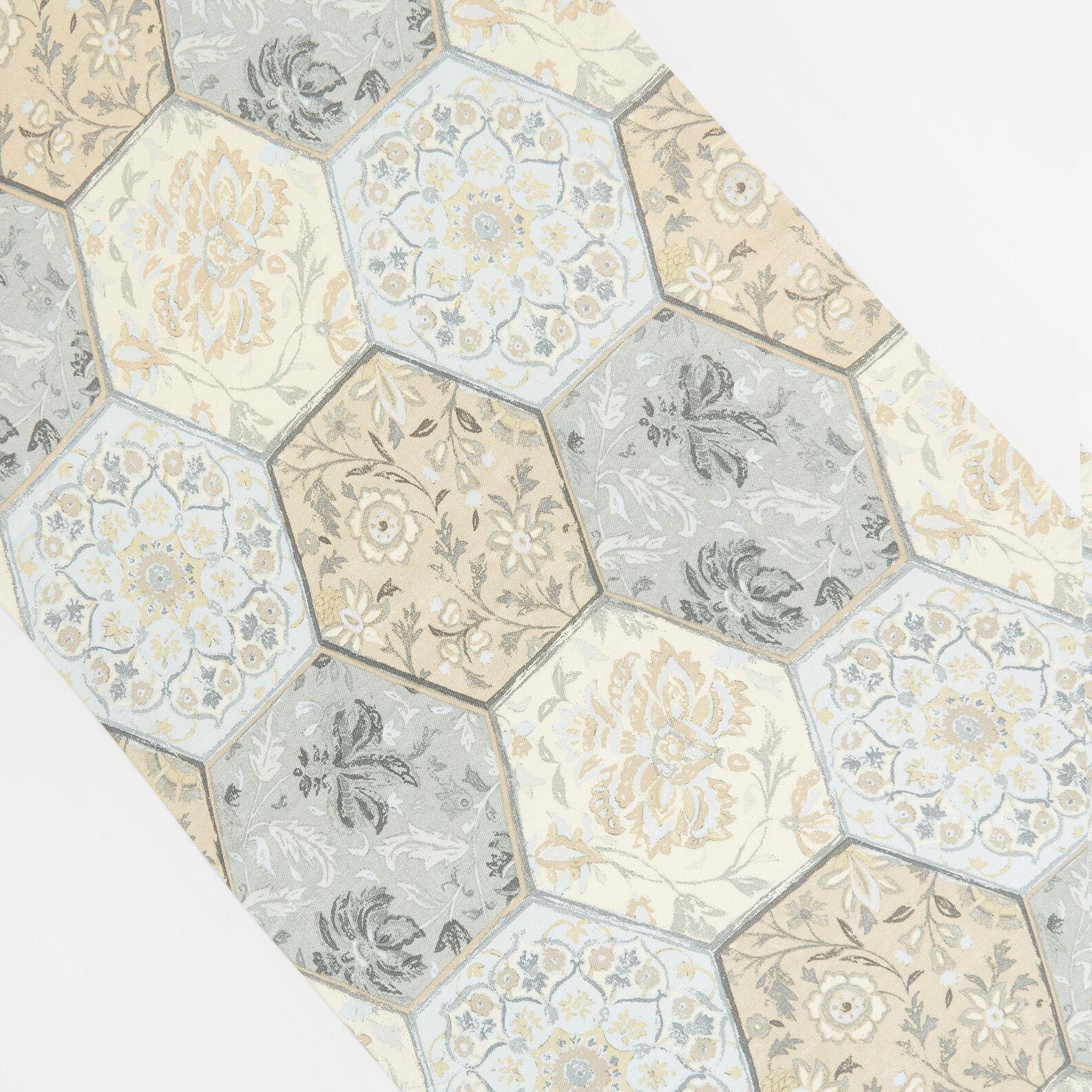 Runner puro cotone stampa mosaico