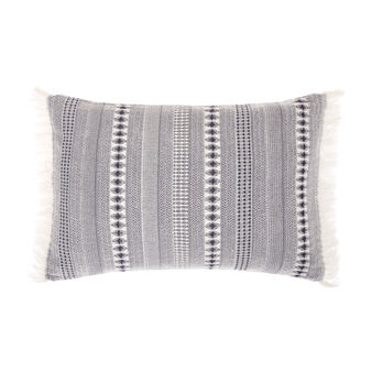 Cotton cushion with ethnic pattern