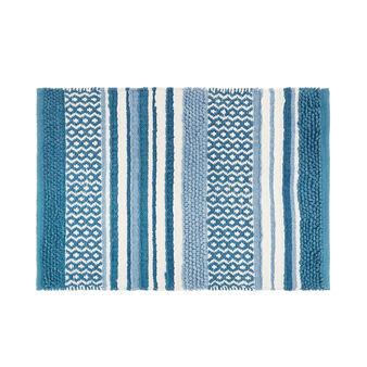 Tappeto bagno puro cotone effetto patchwork