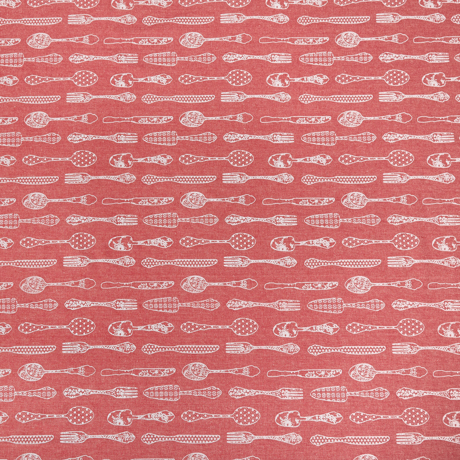100% cotton tablecloth with cutlery print