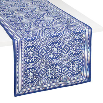 100% cotton table runner with mosaic print