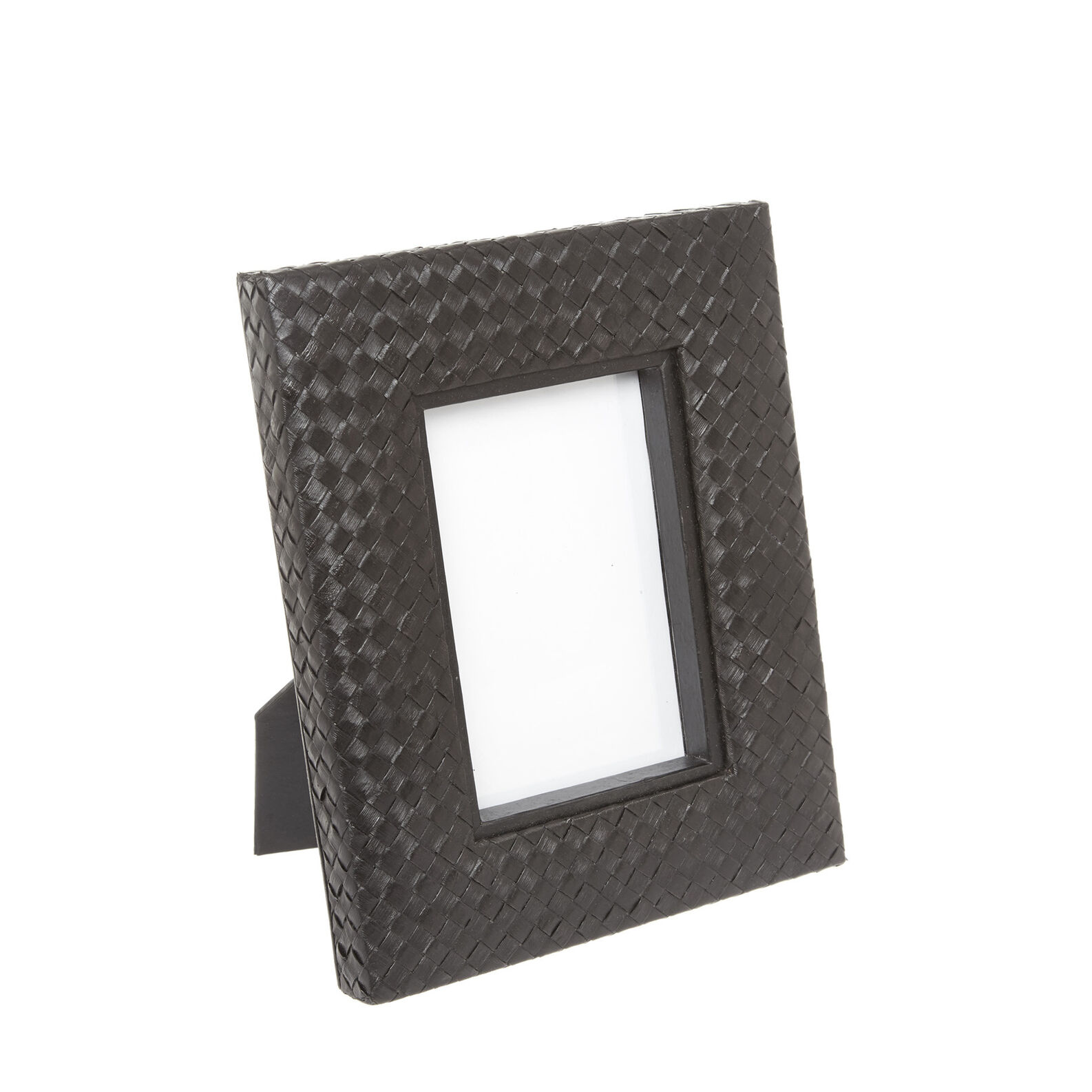 Photo frame with hand-woven leaves