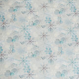Cotton twill tablecloth with snow crystals print