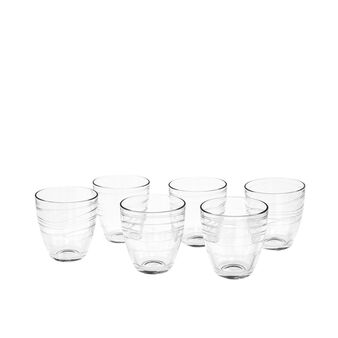 Set of 6 tumblers in Mexico glass
