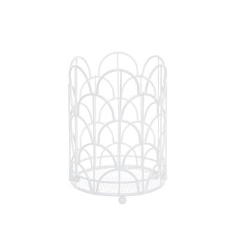 Enamelled metal wire utensil holder