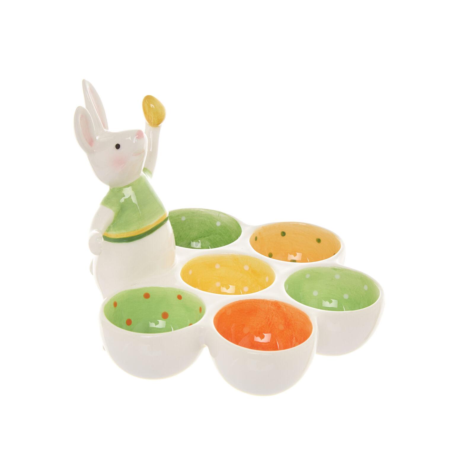 Piatto porta uova ceramica