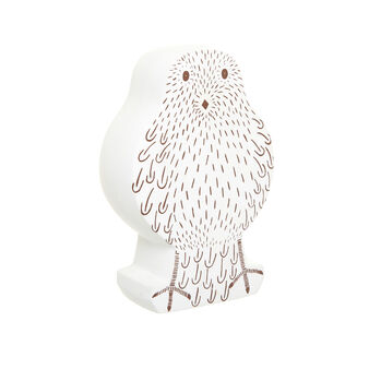 Porcelain owl statue