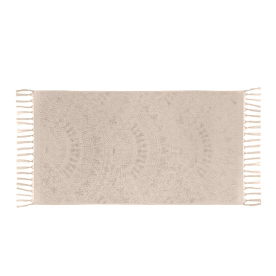 Thermae towel in 100% cotton velour with geometric frames