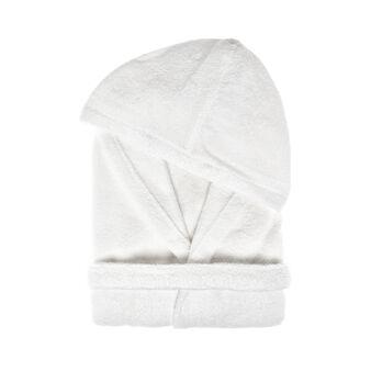 100% cotton bathrobe with detailed edging