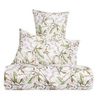 Cotton satin flat sheet with flower print