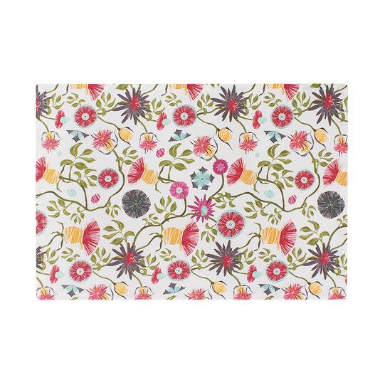 Tovaglietta puro cotone stampa fiore di cardo