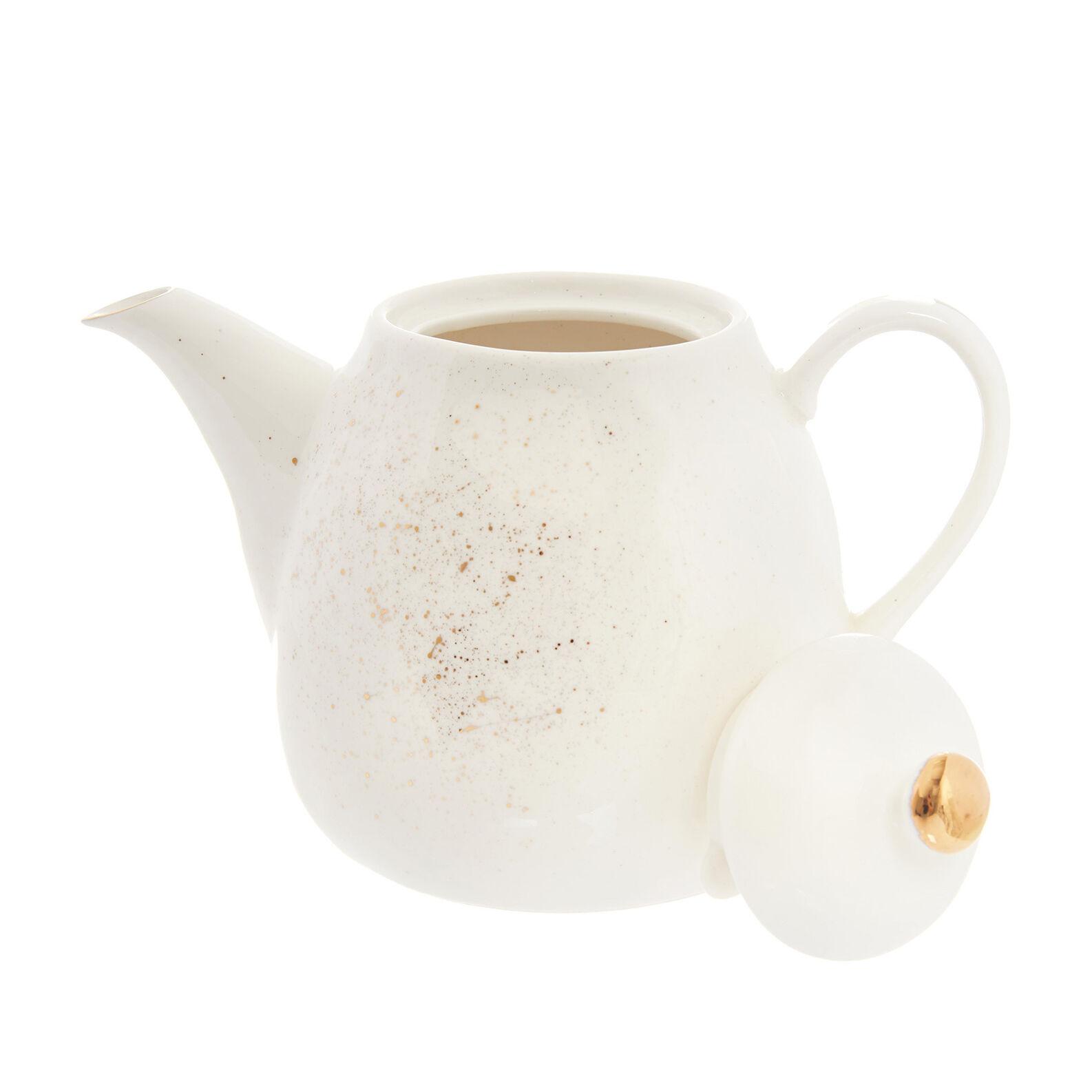 Porcelain teapot sprayed gold