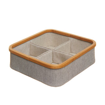 Cotton blend organiser with bamboo edging