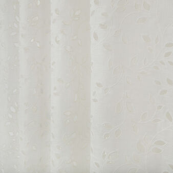 Sangallo linen curtain with hidden loops