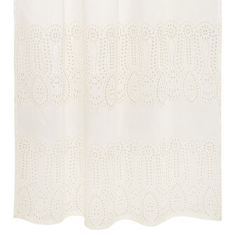 Curtain with broderie anglaise lace embroidery