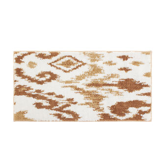 Bath mat with abstract print and rubber back