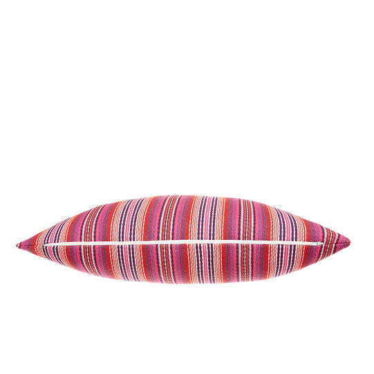 Striped jacquard cushion
