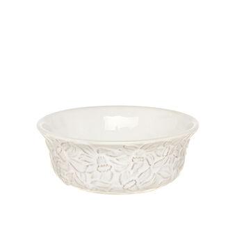Isabel decorated ceramic dessert bowl