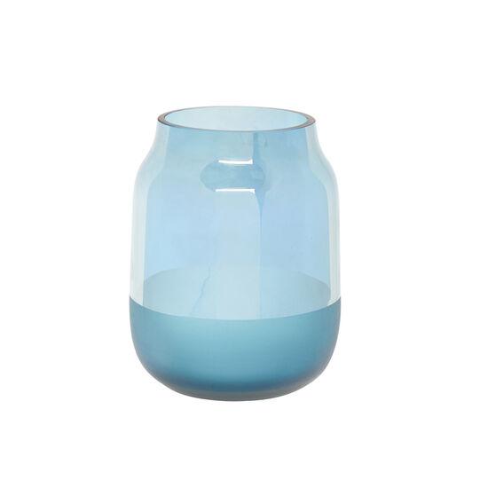 Two-tone coloured glass vase