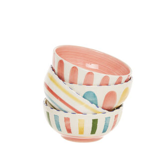 Small ceramic bowls with various patterns