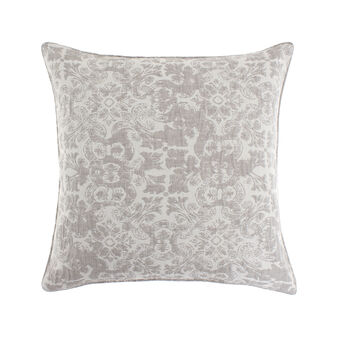 Jacquard cushion with ornamental pattern