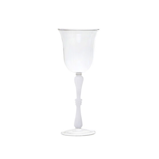 Water goblet in borosilicate glass
