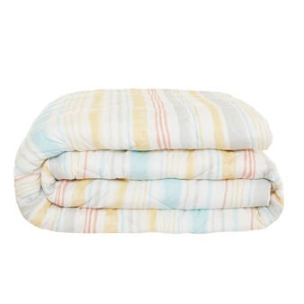 Cotton percale quilt with striped pattern