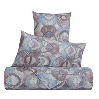 Duvet cover set in 100% cotton with abstract pattern