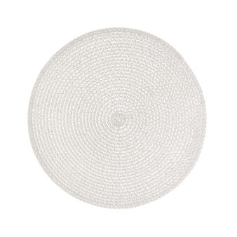 Round woven table mat with lurex