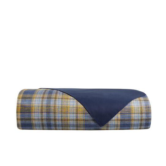 Duvet cover in 100% cotton with tartan print