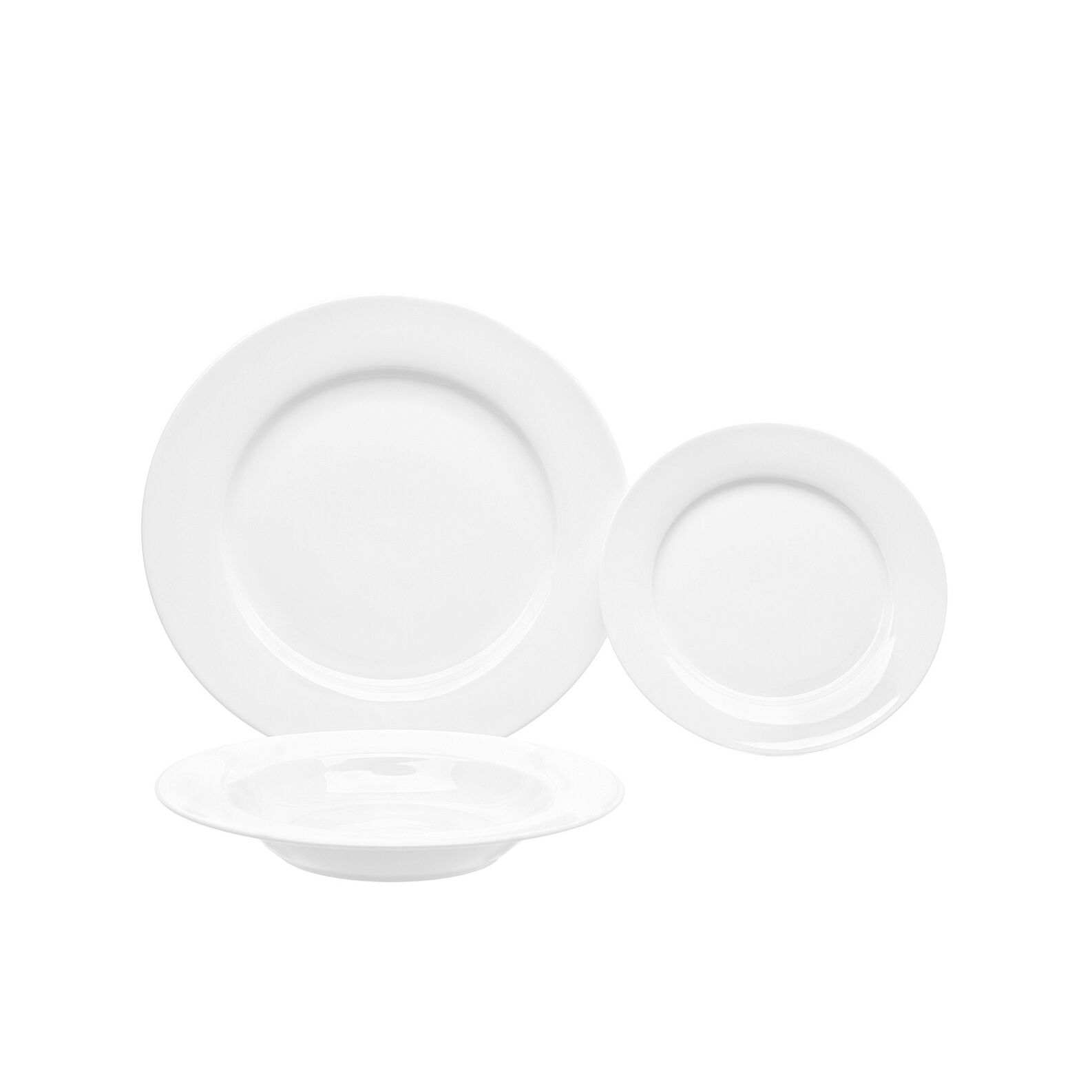 Falda set of 18 white porcelain plates