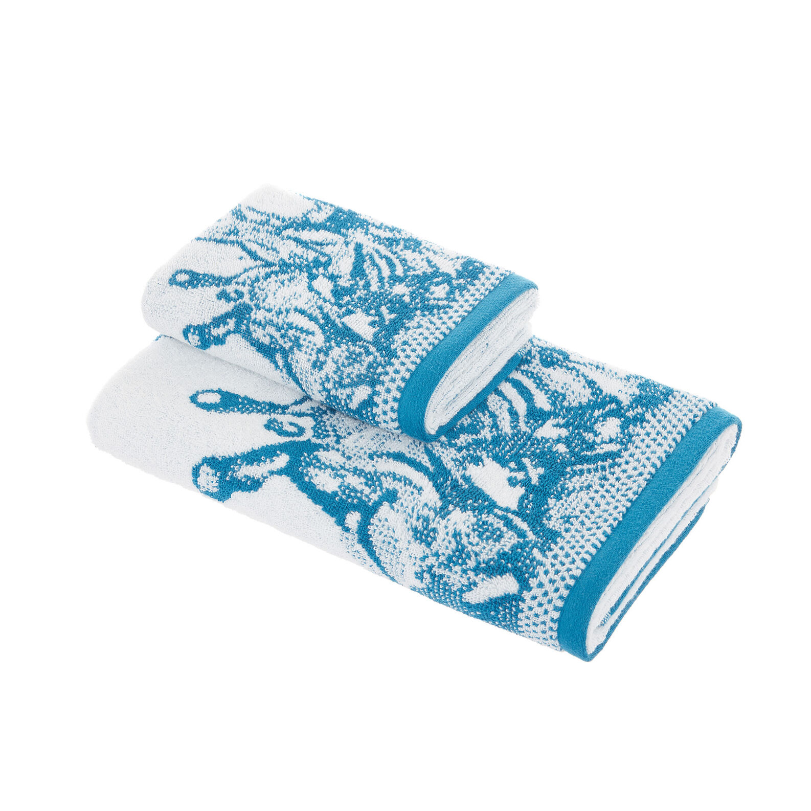 Cotton terry towel with droplet design