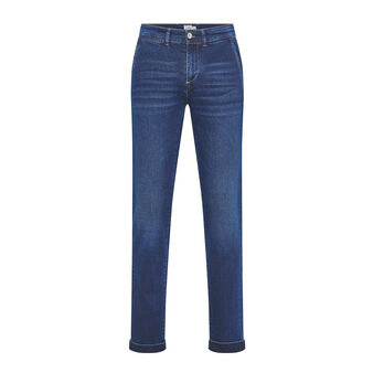 JCT stretch denim chino trousers