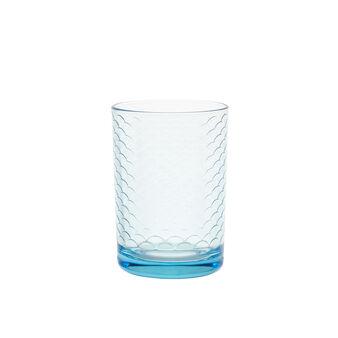 Bicchiere vetro decorato Spring