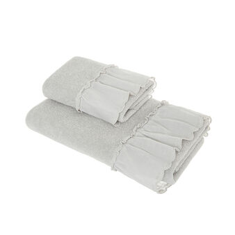 Portofino cotton towel with voile edge