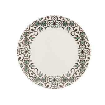 Tapestry decorated ceramic dinner plate