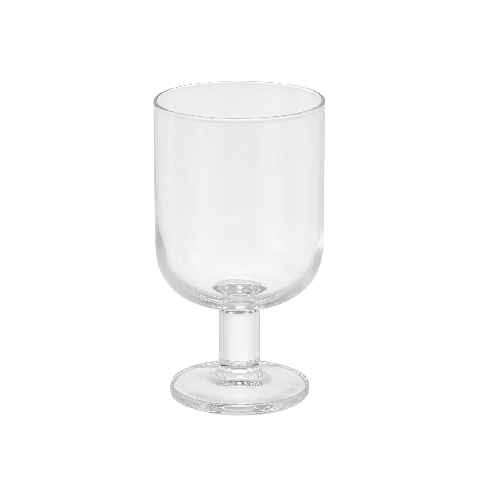 Set of 6 transparent glass water goblets