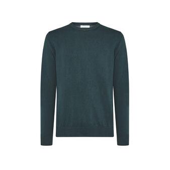 Luca D'Altieri 100% cotton top with round neck