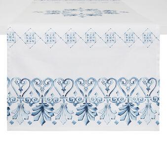 Runner twill di cotone stampa ornamentale