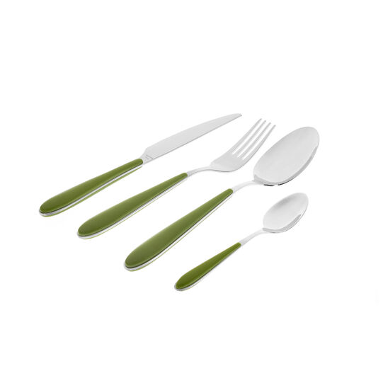 Stainless steel and plastic fork