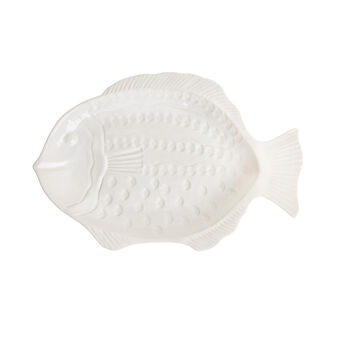 Portuguese ceramic fish-shaped serving dish