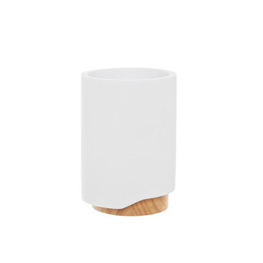 Design toothbrush holder with bamboo detail