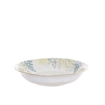 Hand-painted terracotta salad bowl