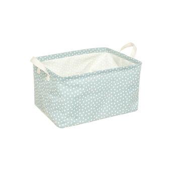 Rectangular canvas basket with stars