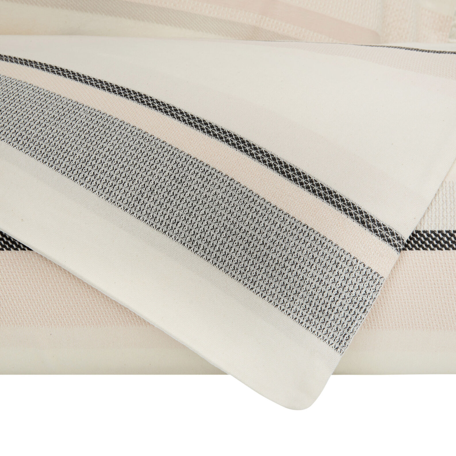 Cotton jacquard striped duvet cover