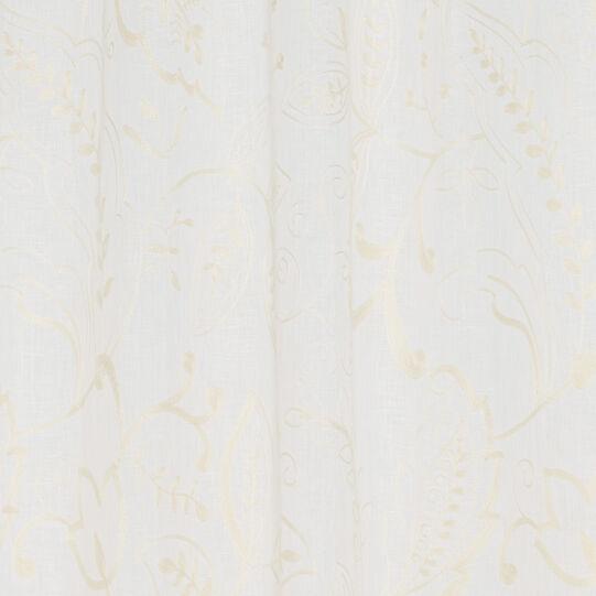 Tenda puro lino ricami floreali